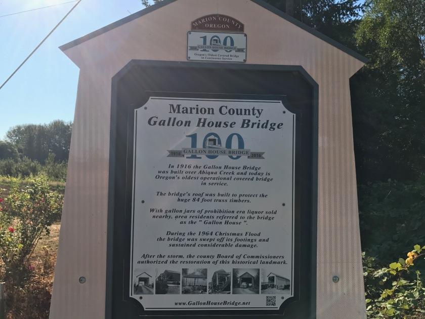 Centennial sign at Gallon House Bridge