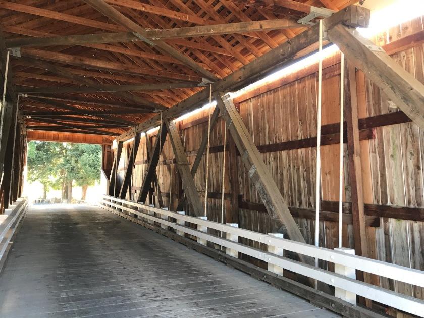 Looking through gallon house bridge