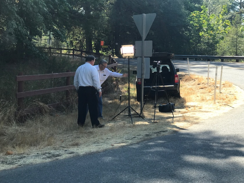Cameras filming Mazdas
