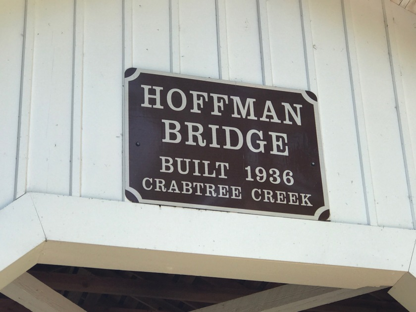 Hoffman Bridge date sign