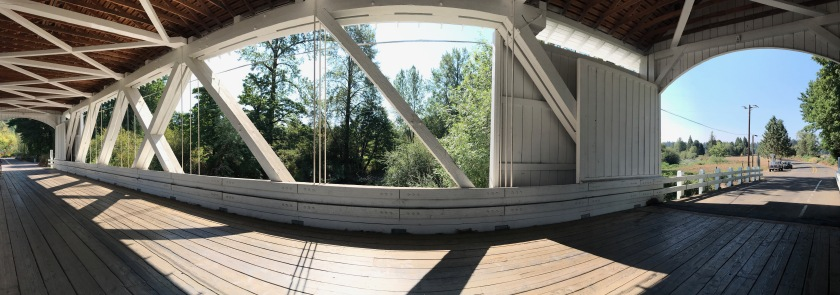 Wide view of inside Larwood Bridge