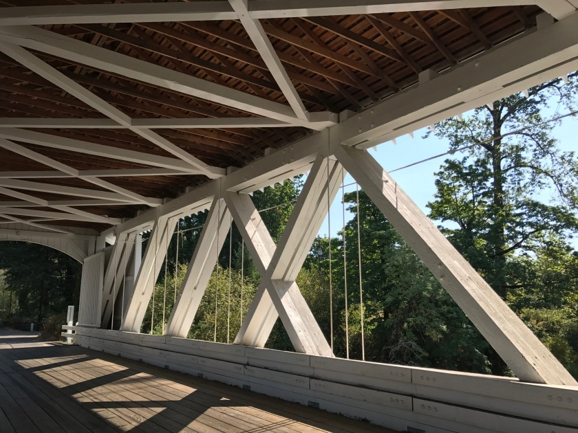 Larwood Bridge double supports