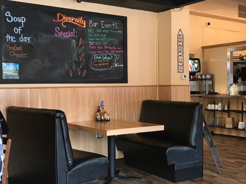 Drink and Specials menu at Diversity Cafe