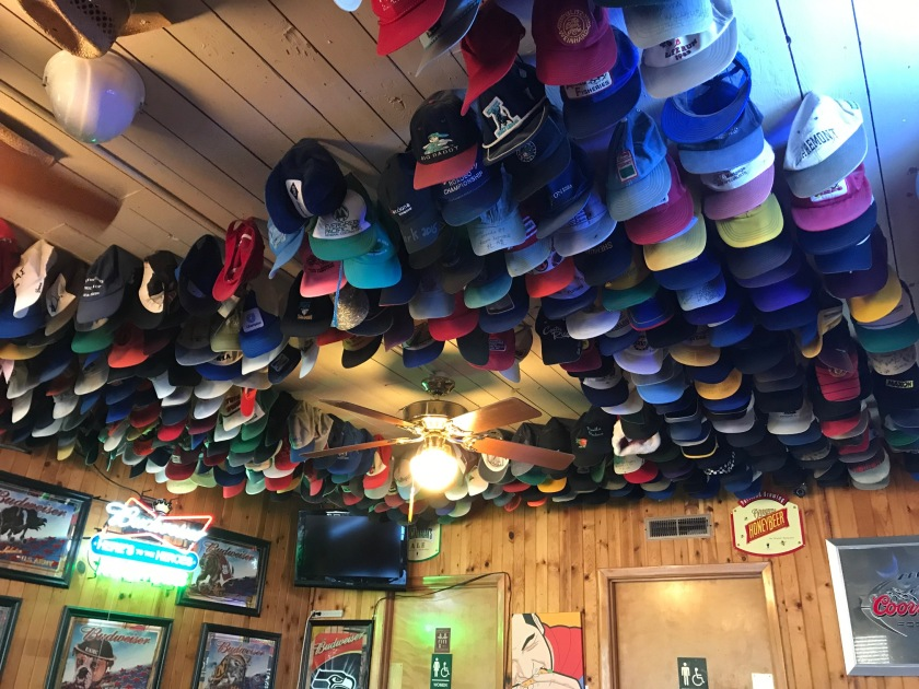Hats on the ceiling