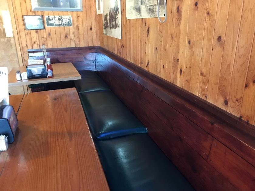 Bench seat at Helvetia Tavern