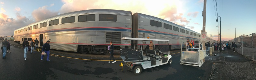 The train has arrived in Eugene