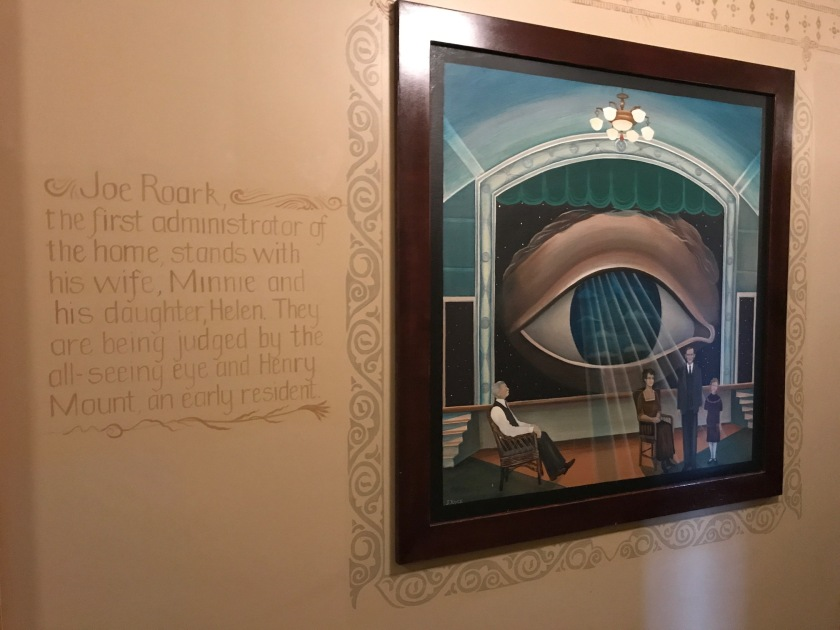 Artwork on second floor very Masonic influenced