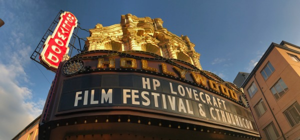 Front entrance and marquee for the Film Festival