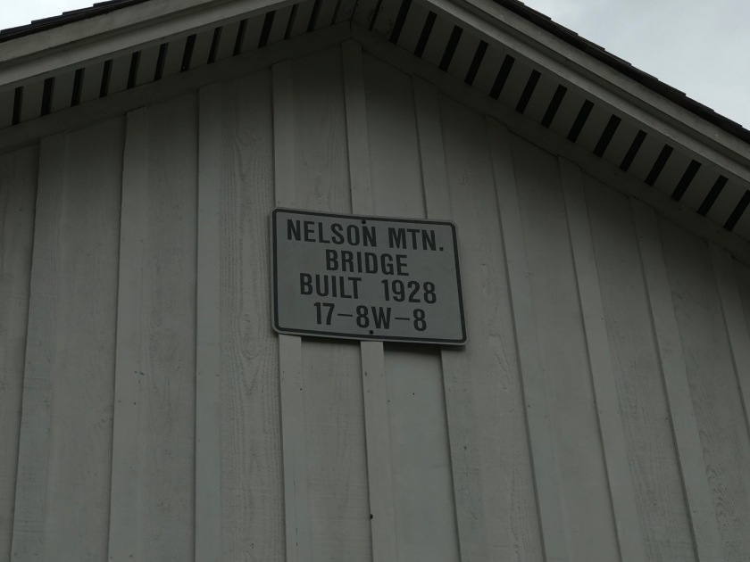 Nelson Mountain Bridge was built in nineteen twenty-eight and restored in nineteen eighty-three