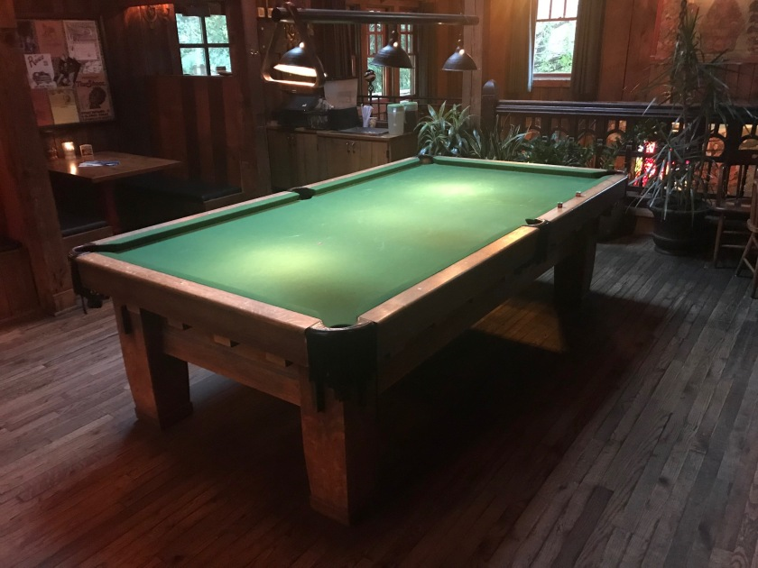 The pool table no the second floor is very nice and would be pretty dun to play on