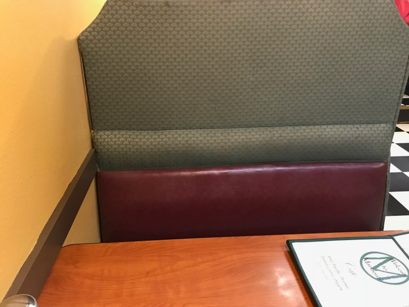 I really like the booths, they are comfortable, very plush, and have high backs encouraging conversation with your party