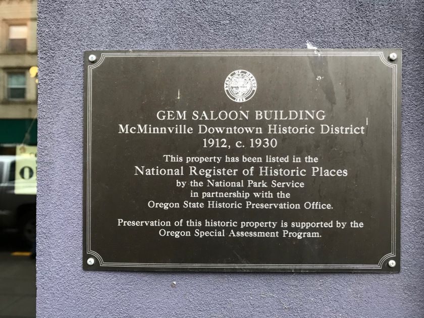 Gem Saloon Building Plaque - Gem building is where the Gem Creole Saloon is located.