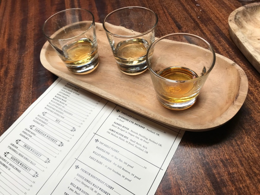 The Portland Flight whiskey sampler was just amazing at Gem, I'll definitely be trying that again