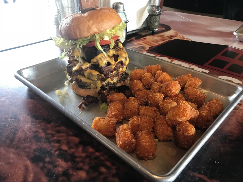 The burgers and tots at Bert's are amazing looking and tasting